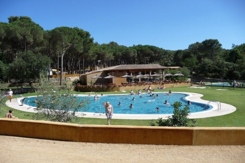 camping begur zwembad
